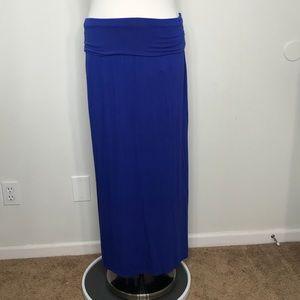 a.n.a. Blue Maxi Skirt